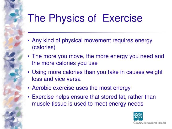 The Physics of  Exercise