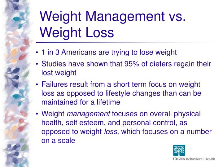 Weight Management vs. Weight Loss