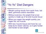 yo yo diet dangers