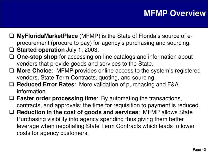 MFMP Overview