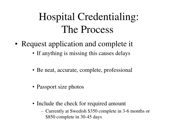 Hospital Credentialing: