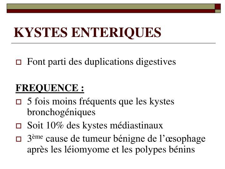 KYSTES ENTERIQUES