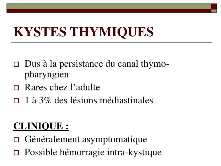 KYSTES THYMIQUES