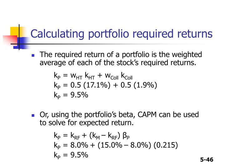 Calculating portfolio required returns