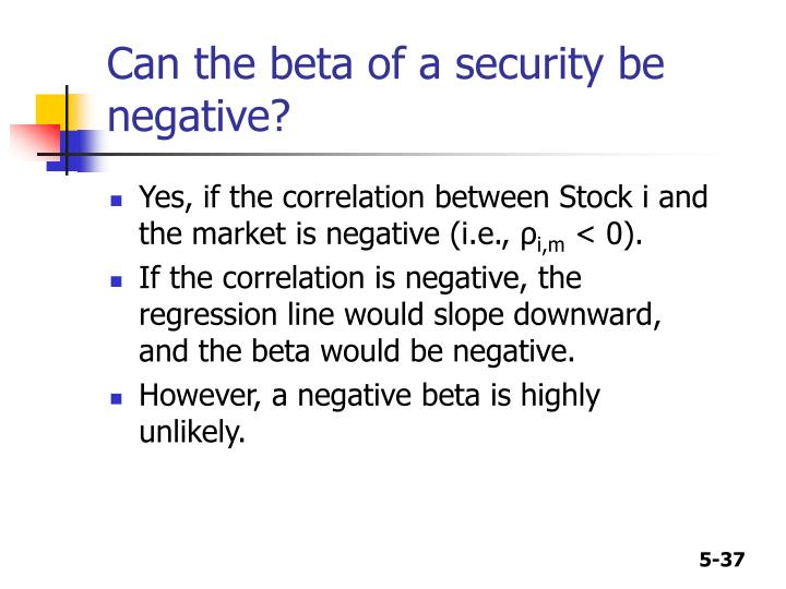 Can the beta of a security be negative?