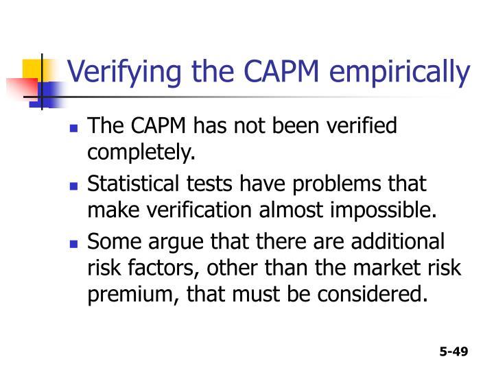 Verifying the CAPM empirically