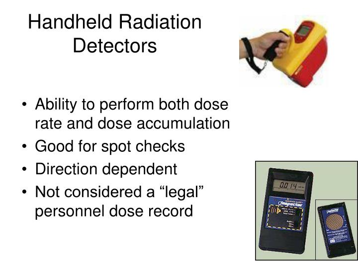 Handheld Radiation Detectors