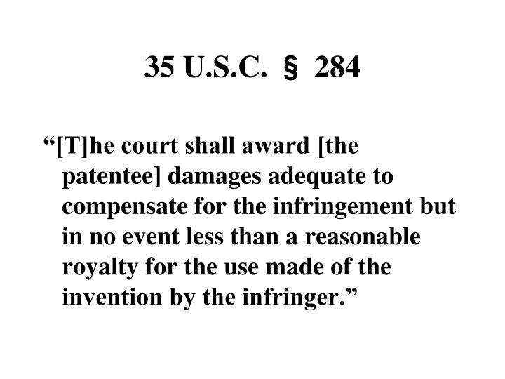35 U.S.C. § 284