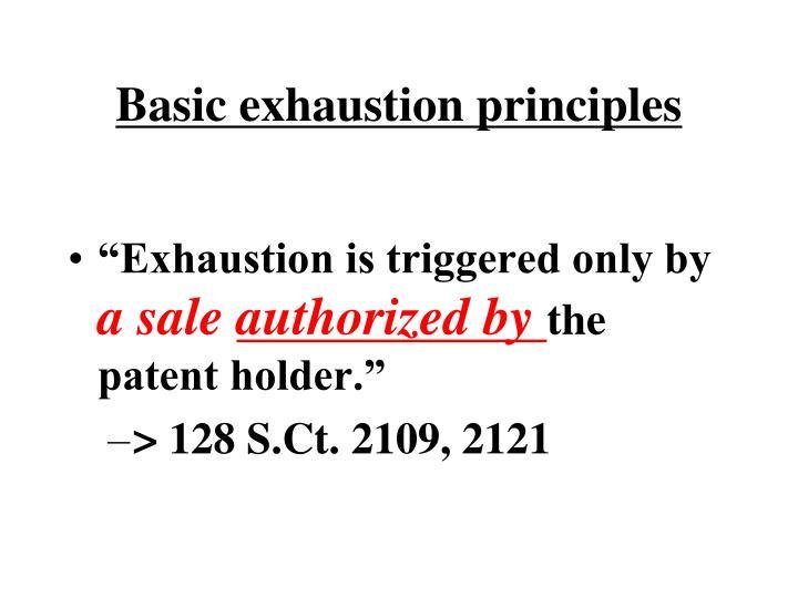Basic exhaustion principles