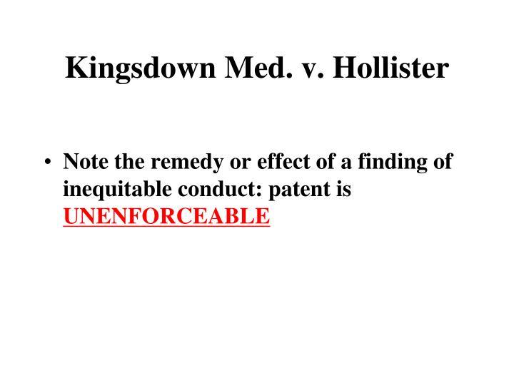 Kingsdown Med. v. Hollister