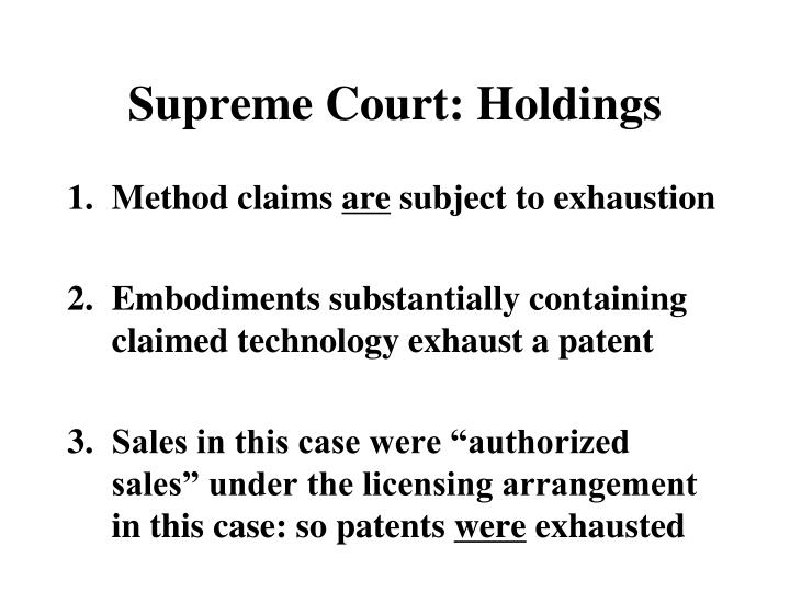 Supreme Court: Holdings