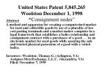 united states patent 5 845 265 woolston december 1 1998 consignment nodes