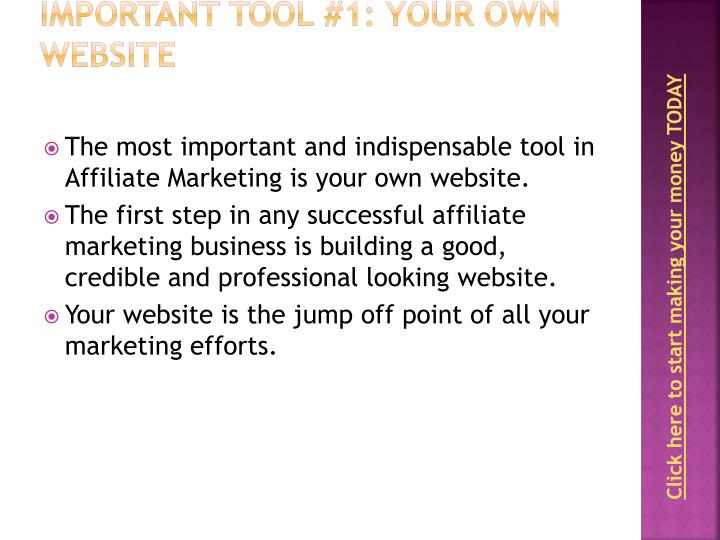 Important Tool #1: Your Own Website