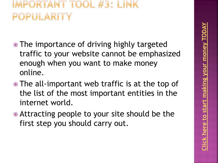 Important Tool #3: Link Popularity