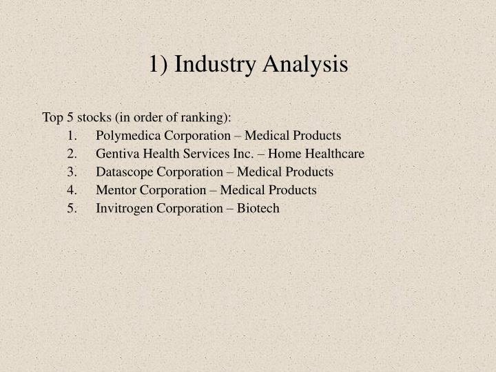 1) Industry Analysis