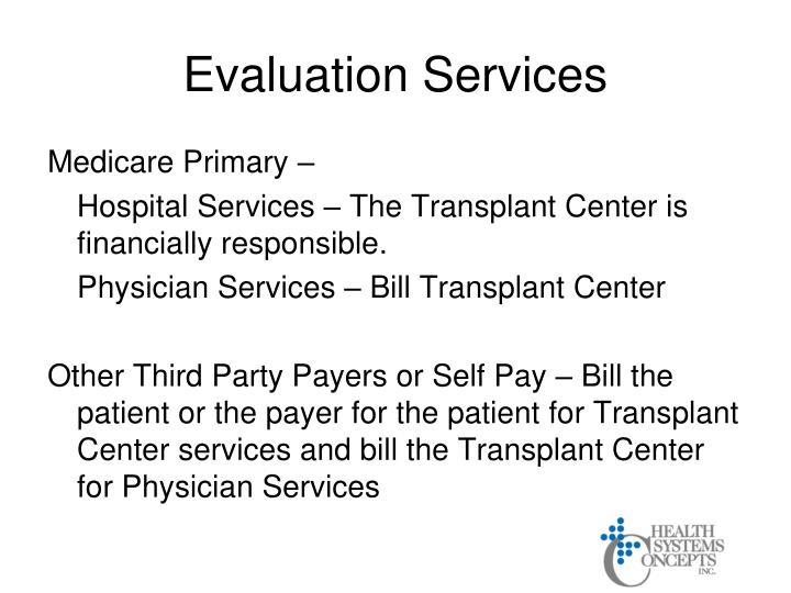 Evaluation Services