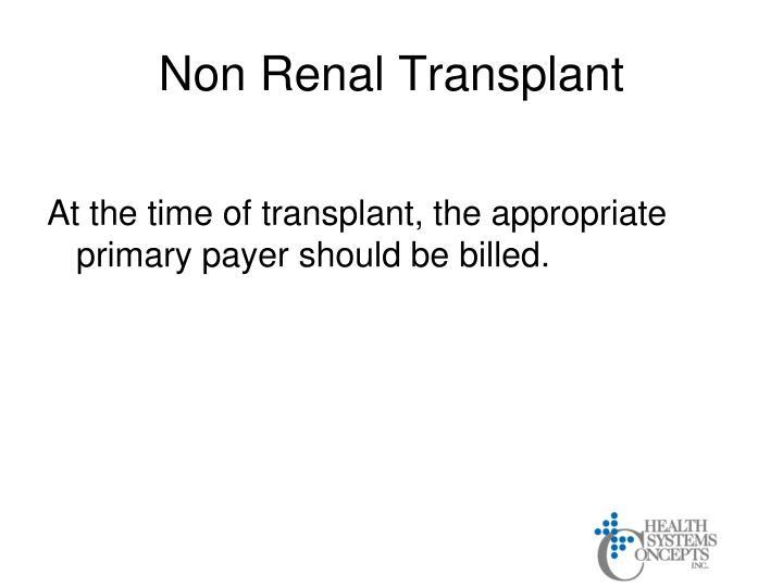 Non Renal Transplant