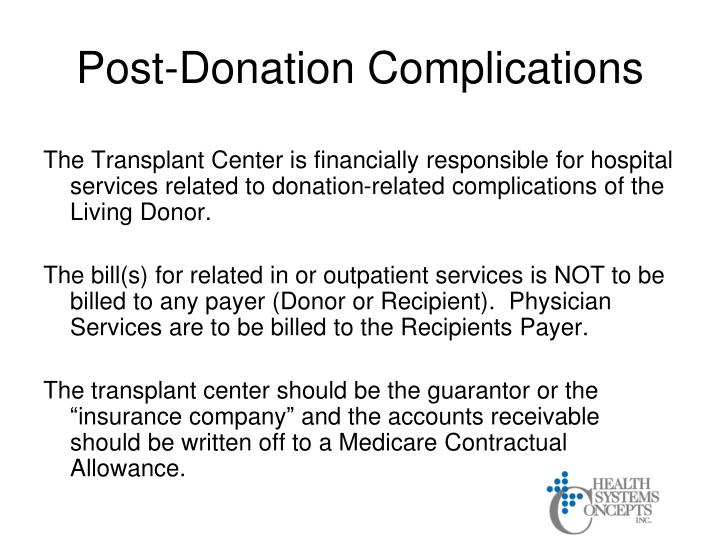Post-Donation Complications