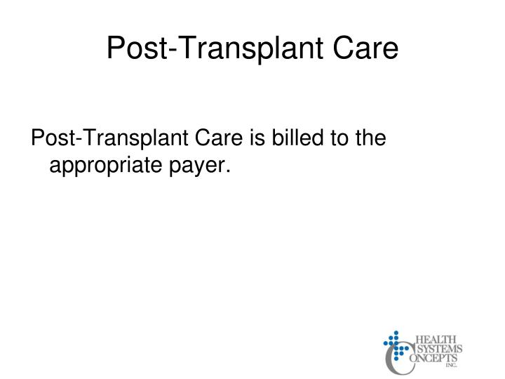 Post-Transplant Care