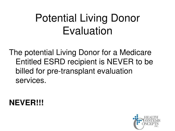 Potential Living Donor Evaluation
