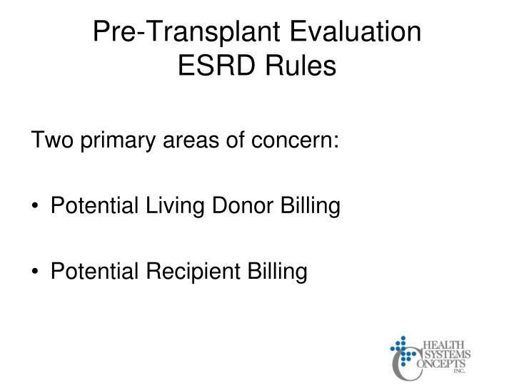 Pre-Transplant Evaluation