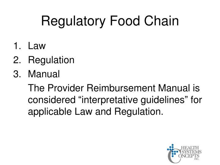 Regulatory Food Chain