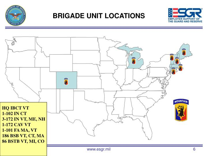 BRIGADE UNIT LOCATIONS