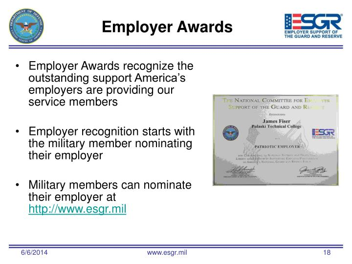 Employer Awards