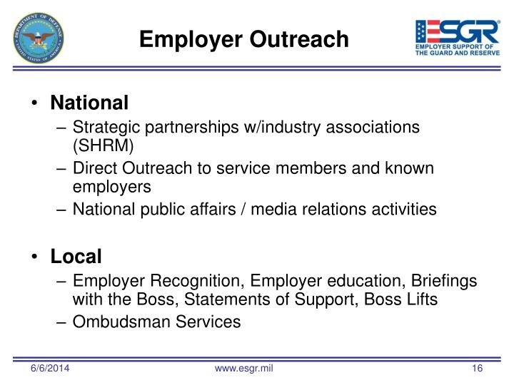 Employer Outreach