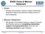 esgr vision mission statement