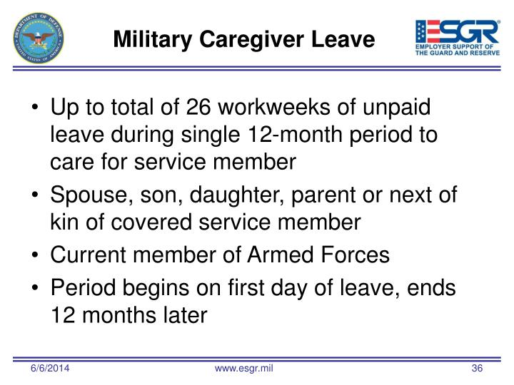 Military Caregiver Leave