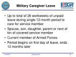 military caregiver leave