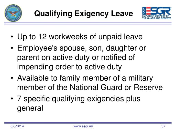Qualifying Exigency Leave