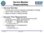 service member responsibilities