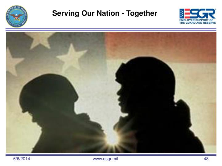 Serving Our Nation - Together