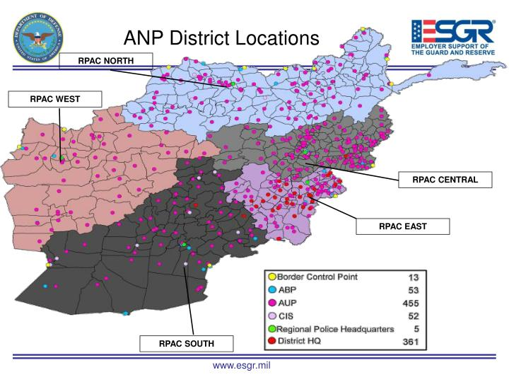 ANP District Locations