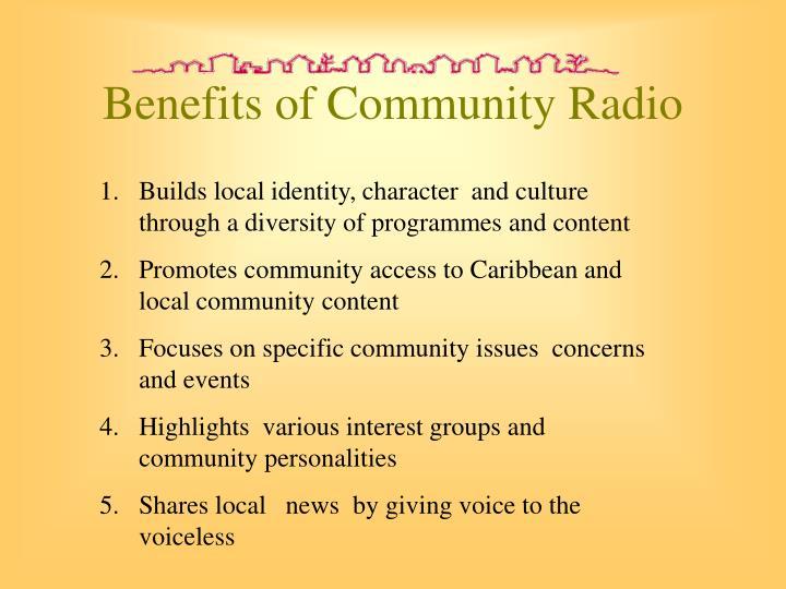 Benefits of Community Radio