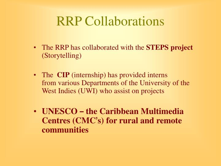 RRP Collaborations