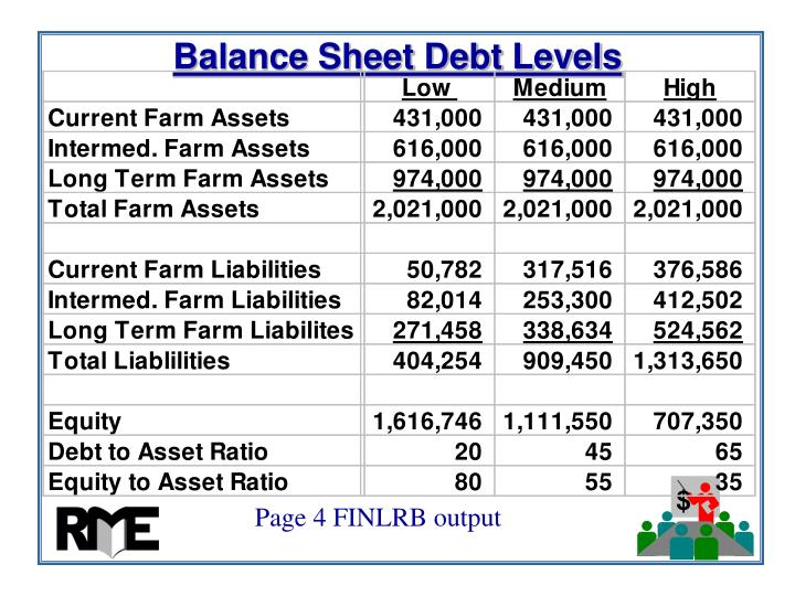 Balance Sheet Debt Levels