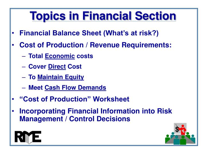 Topics in Financial Section
