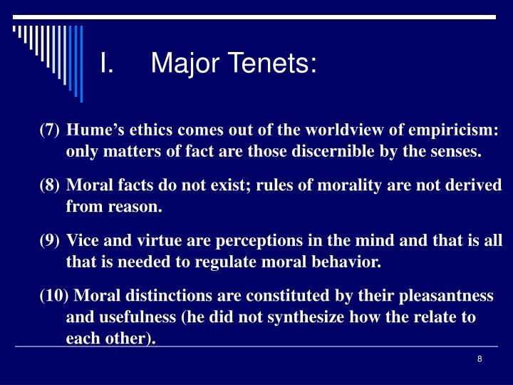 I.Major Tenets: