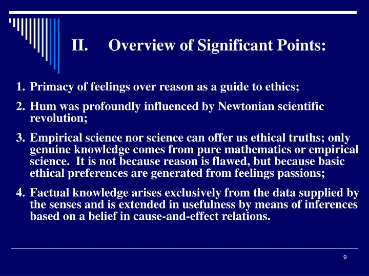 II.Overview of Significant Points: