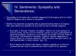 iv sentiments sympathy and benevolence