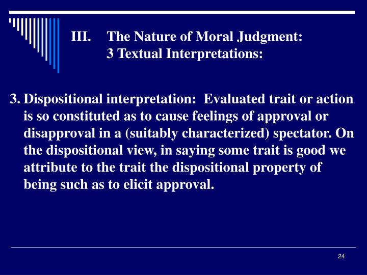The Nature of Moral Judgment:
