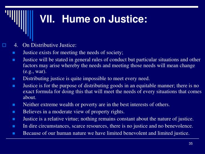 VII.Hume on Justice: