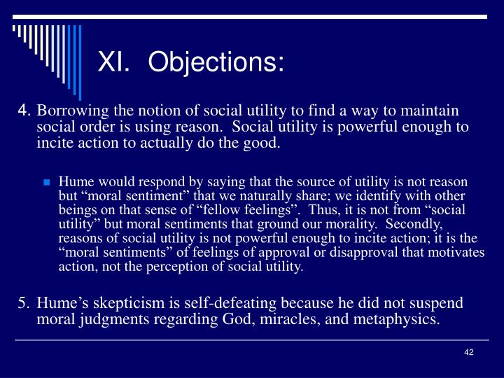 XI.Objections: