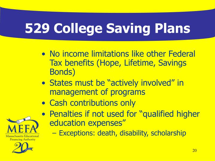 Ppt 529 college savings plans a national overview for 527 plan