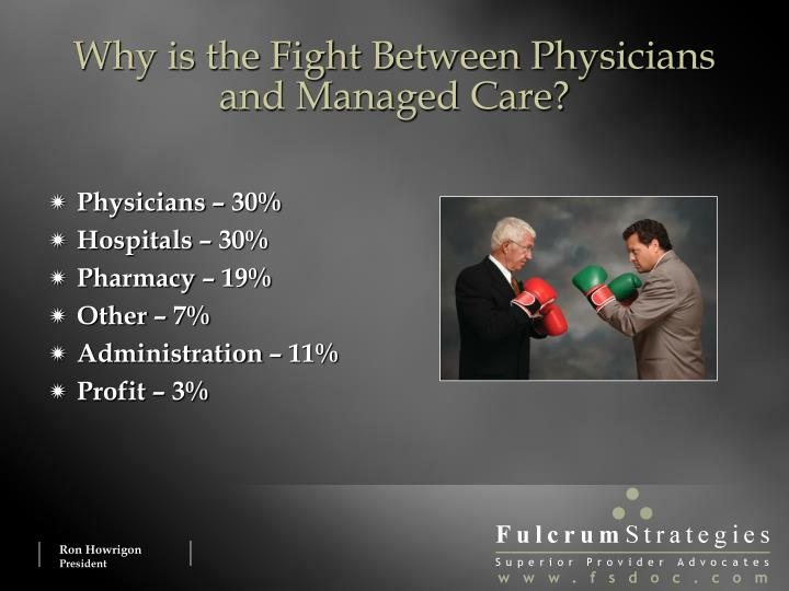 Why is the Fight Between Physicians and Managed Care?