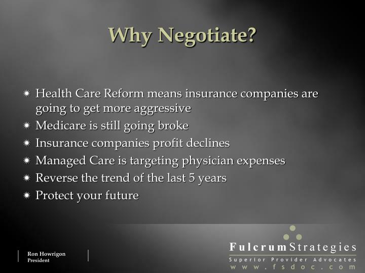 Why Negotiate?