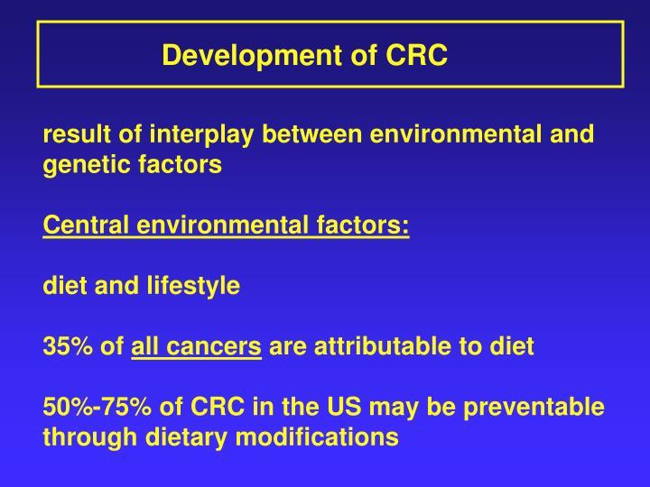 Development of CRC